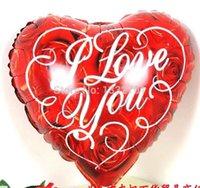 air free ballon - HOT LOVE ballon air balloons RED printed bolas INCH helium globos HEART balao for wedding balloon