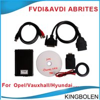 Wholesale 2015 For Opel and Vauxhall V6 Software USB Dongle AVDI FVDI ABRITES Commander get Hyundai Kia Tag Key Tool free software DHL Free