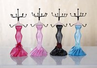 Wholesale 2015 new Mannequin jewelry frame European princess skirt aircraft models holder black pink red blue