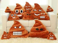 handmade gifts - Decorative Cushion Emoji Pillow Gift Cute Shits Poop Stuffed Toy Doll Christmas Present Funny Plush Bolster Pillows via Fedex ship