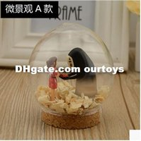 Wholesale Cute Anime Spirited Away dollhouse Miniature Glass Ball DIY Miniatures Wooden Doll House Xmas DIY Assembling Toys