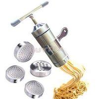 Wholesale New Stainless Steel Pasta Tools Manual Machine Maker Noodle Maker Herramientas de Pasta ZT