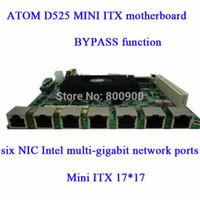 atom network - ATOM D525 MINI ITX motherboard six NIC Intel multi gigabit network port BYPASS function