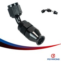 Wholesale PQY RACING BLACK AN4 AN DEGREE REUSABLE SWIVEL TEFLON HOSE END FITTING AN4 PQY SL6045
