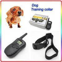 Wholesale Dog training collar Yard Hunting LCD LV Level Shock Vibra Remote conttrol Pet Training Collar