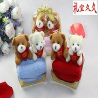 Wholesale Cake towel birthday gift doll married bear promotional