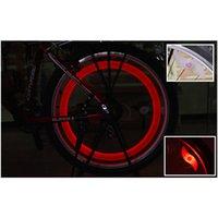 al por mayor electric motorcycle-coche caliente para Bicicleta luces LED de la motocicleta eléctrica Ruedas rayos de la lámpara de silicona 4 colores flash de luz de alarma de envío libre de DHL
