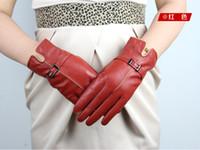 Wholesale N Gloves Luva Guantes Fingerless Gloves Men Leather Gloves Women Leather Gloves Five Finger Gloves Sheepskin Fall Winter LJ008
