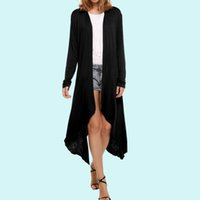 Wholesale New Womens Long Knit Sweater Cardigan Long Sleeve Asymmetric Hem Casual Coat Autumn Loose Tunic Outwear MDF0283