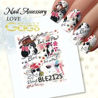 Wholesale Queen Nail Art Decoration Manicure Valentines Day Watermark Transfers D Nail Stickers Tips Sticker Design
