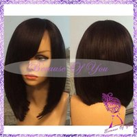Wholesale Goldenparty Hair full lace human hair wigs bob for black woman short cut charming factory price free ship new wig human hair