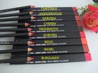 Wholesale 10 high quality MC brand makeup eye lip liner pencil crayon g with english color name