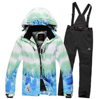 Wholesale winter ski suits for women outdoor waterpoof snow snowboard jacket and pants windproof sport clothes for female warm woman ski pants