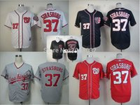 ba jersey - 30 Teams Welcome to buy Cheap Washington Nationals Jersey Stephen Strasburg Jersey White Blue Red Gray Cool Base Jersey Nationals Bas