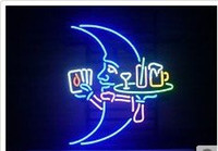 Wholesale Brand New BLUE MOON WAITER Glass Neon Sign Beer light