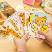 Wholesale A06 Korea stationery cute cartoon easily bear easily bear postcard greeting in