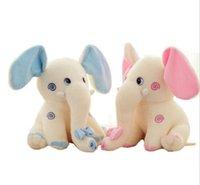 plush elephant - 2015 Lovely Elephant Stuffed Animals Plush Toys Children Animal Plus Stuff Doll Kids Gifts Dolls Child Toys cm pink blue D3811