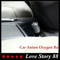 Wholesale 2015 Mini Car Anion Oxygen Bar Ozone Ionizer Top Quality Air Purifier Cleaner Fresher Remove smoke bad smell