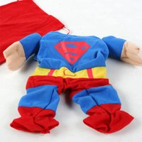 Wholesale The Pet Clothes Dog Cat Warm Sweater Puppy Fashional Superman Style Apparel Dog Soft Material Costume Size XS XL Pet Products