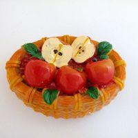 fruit gift baskets - 3D Colorful Fruit Basket Apple Resin Refrigerator Fridge Magnet Sticker Ornament Decoration Souvenir Collection Home accessories Gift