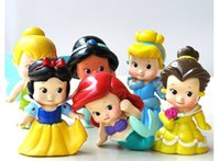 bell collection - Q version princess toy figures pvc princess figure collection snow princess cinderella mermaid belle tinker bell doll toys in stock