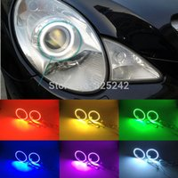 Wholesale For Mercedes Benz R500 R320 CDI W251 Excellent RGB Angel Eyes kit Multi Color Ultrabright Colors RGB LED Angel Eyes Halo Rings