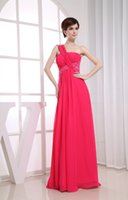 affordable modern art - New Year Promotion One Shoulder Sequins Sexy Back Floor Length Affordable Evening Dresses Hot Pink New Arrival Fantastic Fashion