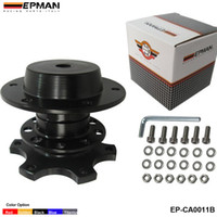 Wholesale EPMAN NEW Quick Release Snap Off Hub Adapter Boss kit fits Car Sport Steering Wheel Black EP CA0011 BK