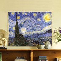 Wholesale canvas painting wall pictures wall art Van gogh starry night canvas art home decor Modern Huge Picture Canvas Only
