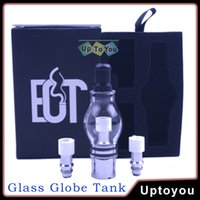 glass domes - Glass Globe Tank Wax Vaporizer Glass Oil Dome Globe Rig Set Vapor Globe Atomizer Clear for Dry Herb Wax Vaporizer For E liquid Atomizers
