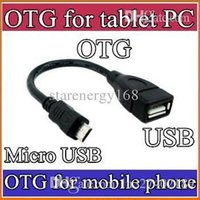 Wholesale DHL Micro USB Male to USB Female Host OTG Adapter Cable A13 A23