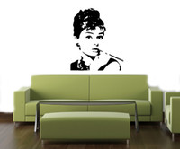 beauty quote - 2015 new fashion Beauty Audrey hepburn Vinyl Mural sticker wall decal quote art Decor Removable