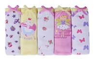 Wholesale Children cotton Briefs Mid waist print Cartoon Peppy Pig underwear Girl triangle kids panties
