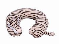 Wholesale Hot Sale Plush Animal U Shape Pillow Lovely Tiger Travel Rest Car Neck Pillow Office Pad Cushion ZYP12