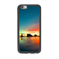 beach scenes - Amazing Ocean Beach Sunset Sunrise Scene Print Custom Design Case Cover for iPhone inch Black