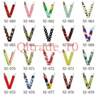 Wholesale 600PCS HHA311 Ribbon Baby Chevron Pacifier Clips Printed Pacifier Clips Solid color Printed Owl Anima Cartoon dot Zigzag Pacifier Clips
