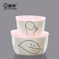 microwave porcelain bowl - In the story of Yue bone porcelain fresh bowl two piece health microwave oven with cover sealing ceramic bowl lunch boxes set