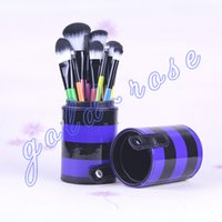 leather pieces - Makeup Brushes piece Professional Brush sets Leather Peel bucket HOT gift