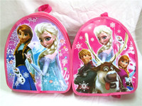 Wholesale In stock Frozen School Bags frozen cartoon backpack Anna Elsa preschool bags kids bag free DHL ship