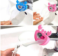Wholesale New Arrive Cute Bathroom Sink Faucet Chute Extender Crab Children Kids Washing Hands Blue Yellow Pink