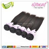 "Cheap 100% Brazilian Virgin Hair 2 Bundles Straight 8""-30"" Remy Human Hair Bundles Free Shipping DHL"