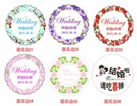 Wholesale Personality Customized Tags Round Favor Card And Thank You Cards Flowers Design Stickers Labels Spring Style
