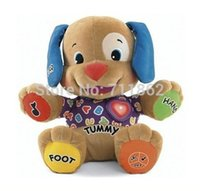 Wholesale pieces Fisher Electronic Musical Dog Toy Singing English Songs Dog Learning Education early education