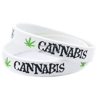 Jelly, Glow printed silicone bracelet - 100PCS Jamaica Weed Silicone Bracelet Phrases Is Printed With Bright Colour Wear These Hip Hop Style Wristband To Show Fashions