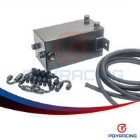 Wholesale PQY STORE L Aluminium Surge tank Full BLack Fuel cell L Universal Complete Fuel Surge Tank L Swirl Pot System PQY TK32BK