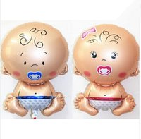 Wholesale 2 Pieces set hot sale Children Angel Baby Aluminum Inflatable Foil Balloons Helium Balloon Birthday Party Decoration Ball Classic Toys