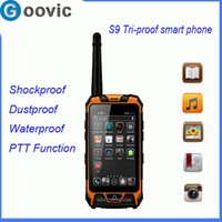 Wholesale S9 inch Android Dual Core Tri proof G Smart Mobile Phone Shockproof Dustproof Waterproof with PTT Email Video Function