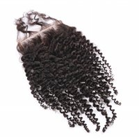 Wholesale quot A Quality Afro Kinky Curly Closure Top Closure Human Hair Free Part Swiss Lace Top Closure Virgin Hair