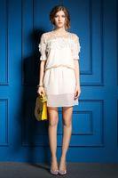 Cheap 2015 new free shipping Fashion beautiful case of chiffon summer dress sexy short sleeve plus size of party dresses