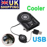 Wholesale UK Stock To UK Mini Flexible Vacuum Air Extracting USB Cooler Cooling Fan for Notebook Laptop Computer UPS order lt no track